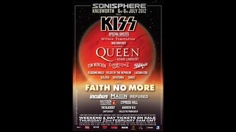 Image courtesy of Sonisphere.co.uk (via ABC News Radio)