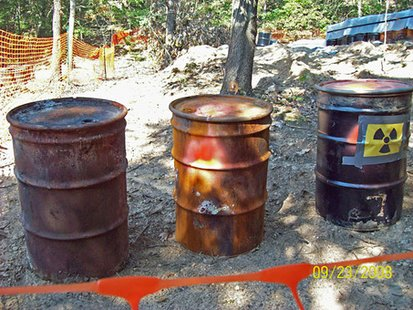 Some of the drums at O Avenue Site (photo courtesy of the Environmental Protection Agency Region 5)