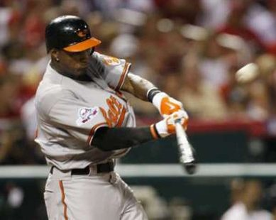 Baltimore Orioles OF Adam Jones. REUTERS/Jeff Haynes