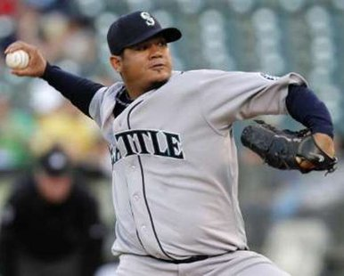 Seattle Mariners starting pitcher Felix Hernandez. REUTERS/Kevin Bartram