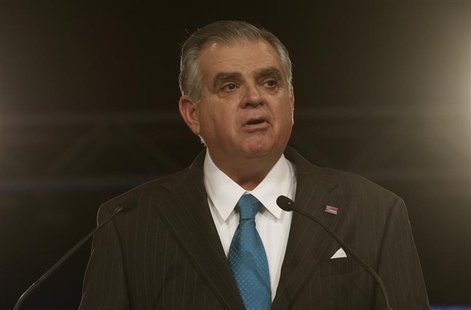 U.S. Secretary of Transportation Ray LaHood opens the first press preview day of the North American International Auto Show in Detroit, Mich