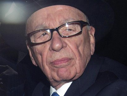 News Corporation Chief Executive and Chairman Rupert Murdoch leaves after giving evidence at the Leveson Inquiry at the High Court in London