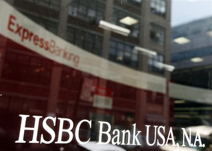A view shows the entrance to a HSBC Bank branch in New York August 1, 2011. REUTERS/Shannon Stapleton