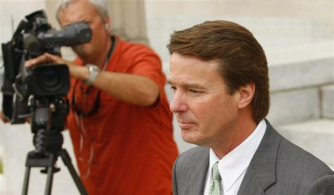 Former U.S. Senator John Edwards leaves the federal courthouse in Greensboro, North Carolina May 1, 2012. REUTERS/Chris Keane