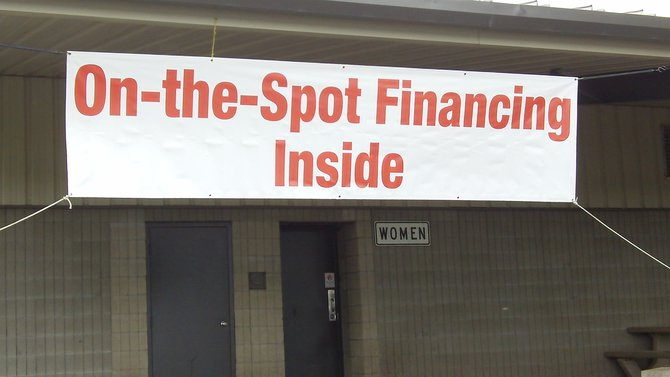 "Please note that the ""On-the-spot financing"" does NOT happen in the women's restroom.  Believe me, I found that out the hard way.  ~TS"