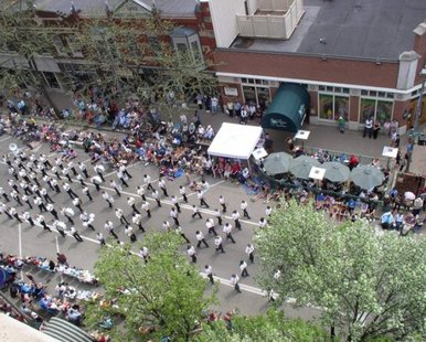 Parade action from the Tulip Time Festival