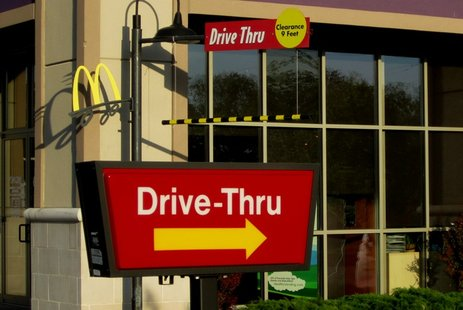 McDonald's drive thru lane