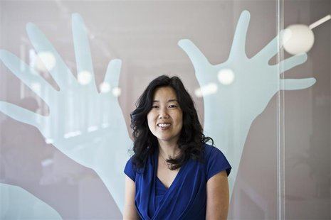 Michelle Rhee, founder and CEO of StudentsFirst, poses in her office in Sacramento, California, April 27, 2012. Rhee has emerged as the lead