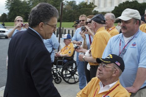 Senator Franken Meets With Northland Honor Flight Participants