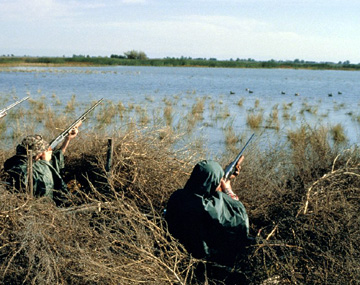 Duck hunting (courtesy of Forest and Range.org)