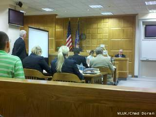 The defense begins its case in a fraud trial brought by two priest abuse victims against the Catholic Diocese of Green Bay, May 17, 2012. (courtesy of FOX 11)