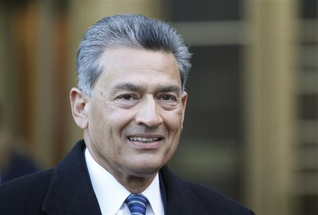 Rajat Gupta, a former director of Goldman Sachs Group Inc., exits Manhattan Federal Court in New York February 7, 2012. REUTERS/Brendan McDe