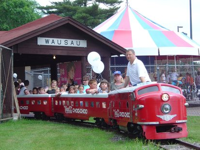 The Marathon Junction train at Marathon Park in Wausau