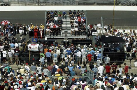 An overall view during the drivers' meeting is seen at the Indianapolis Motor Speedway in Indianapolis, Indiana May 26, 2012. REUTERS/Matt S