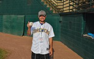Mike Mathers throws out the first pitch at Woodchucks game 6/8/12 6