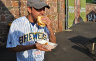 Mike Mathers throws out the first pitch at Woodchucks game 6/8/12 2