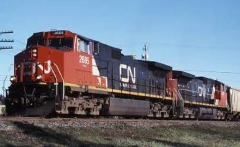 A Canadian National freight train