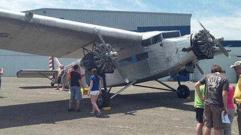 The fully restored and operational 1929 Ford Tri-Motor at the Kalamazoo Air Zoo, offering rides to the general public through Wednesday.  It will be back from July 9th to the 15, and August 16, 17 & 18.  In between it will be barnstorming the midwest.