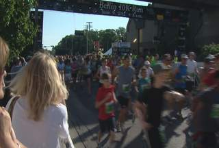Athletes start the 2012 Bellin Run on Saturday June 9, 2012. (courtesy of FOX 11).