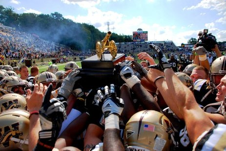 WMU football reclaimed the Cannon with a 44-14 win over rival Central Michigan in 2011.