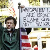 A protester demonstrating against U.S. immigration policy. (Reuters)