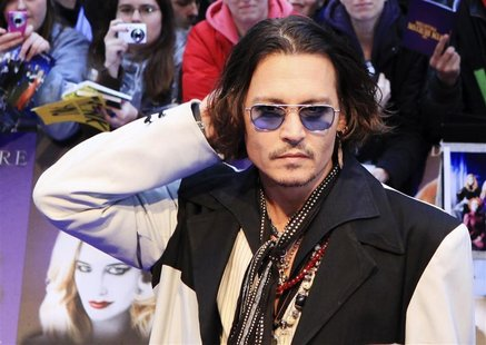 Actor Johnny Depp arrives for the European premiere of Dark Shadows at the Empire, Leicester Square in central London May 9, 2012. REUTERS/O
