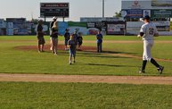 Belky Throws First Pitch Woodchucks 6 18 12 13