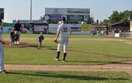 Belky Throws First Pitch Woodchucks 6 18 12 10