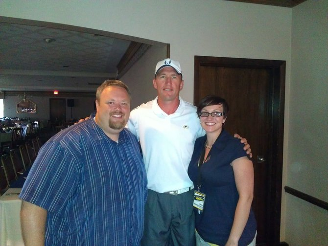 Bryan and Nikki with Bill Schroeder