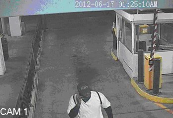 A possible suspect in a June 17th armed robbery is spotted on security footage.