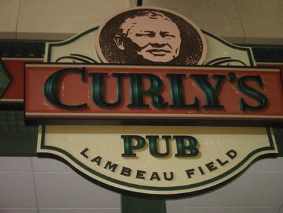 Curly's Pub inside the Lambeau Field Atrium.