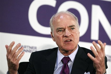 Henry Kravis of Kohlberg Kravis Roberts & Co. speaks during an interview in New York, April 3, 2012. REUTERS/Shannon Stapleton