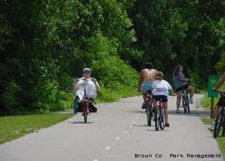 Users enjoy the Fox River Trail in this undated photo.