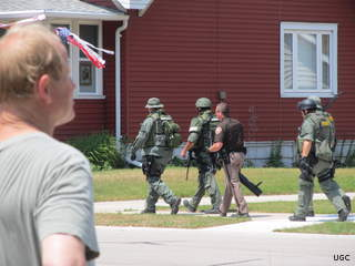 A 23-year-old man was taken into custody after a drug raid in Two Rivers Wednesday afternoon. (courtesy of FOX 11).