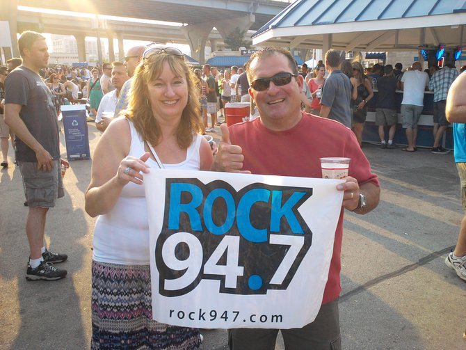 Look at all the Rock fans at SummerFest!