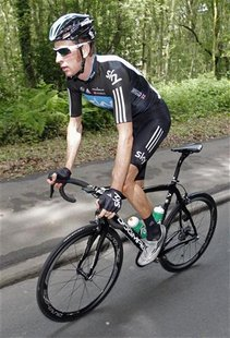Sky Pro Cycling rider Bradley Wiggins of Britain cycles during a training ride ahead of the 99th Tour de France cycling race in Liege, June