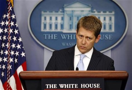 White House Press Secretary Jay Carney speaks to reporters about Operation Fast and Furious in the briefing room of the White House in Washi