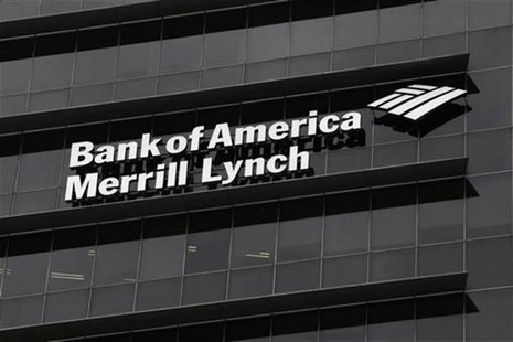 A Bank of America Merrill Lynch sign is seen on a building that houses its offices in Singapore May 17, 2012. REUTERS/Tim Chong