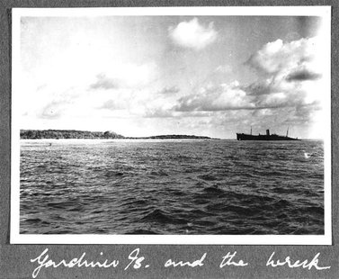 The reef at Nikumaroro, Republic of Kiribati, is pictured in this October 1937 photograph released on March 21, 2012. Scientists on March 20