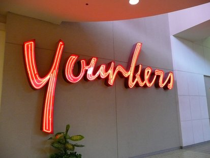 A store sign for Younkers Department Store