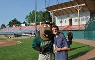 Mike Mathers throws 1st pitch at Woodchucks game 7 5 12 9