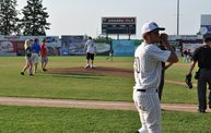 Mike Mathers throws 1st pitch at Woodchucks game 7 5 12 6
