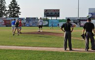 Mike Mathers throws 1st pitch at Woodchucks game 7 5 12 5