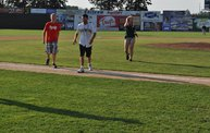 Mike Mathers throws 1st pitch at Woodchucks game 7 5 12 3