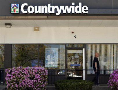 A Countrywide branch location is seen in Burlington, Massachusetts May 5, 2008. REUTERS/Brian Snyder