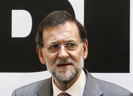 Spanish Prime Minister Mariano Rajoy attends the inauguration of the Inter American Development Bank in Madrid July 6, 2012. REUTERS/Andrea