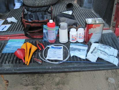 Van Buren County Sheriff's deputies found meth making components after a search.