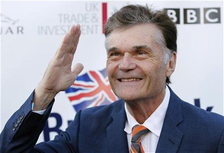 Actor Fred Willard poses at the Royal Wedding-themed champagne launch of BritWeek at the British Consul General's official residence in Los
