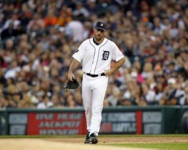 Detroit Tiger pitcher Justin Verlander. REUTERS/Jeff Kowalsky