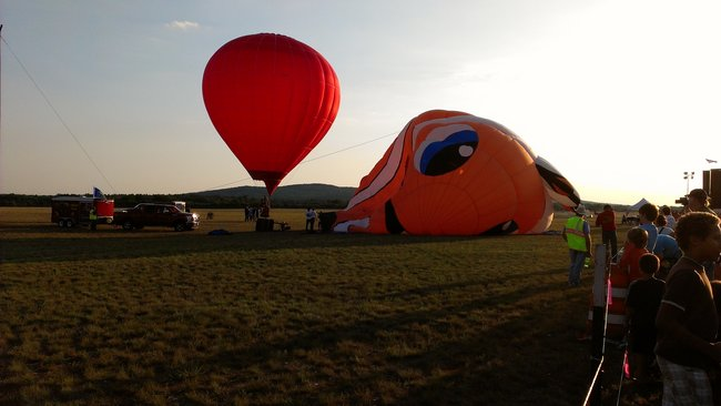 Wally balloon being inflated